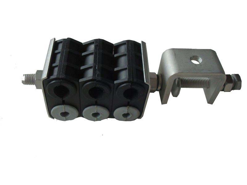 6 way combined feeder clamp for optic fiber rf feeder cable