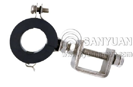 waveguide feeder clamp