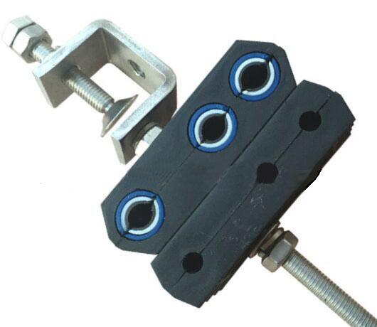 fiber optic hybrid feeder cable clamp